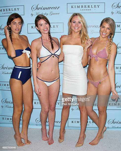 Actress/fashion designer Kimberley Garner attends the launch party of Swimsuit Designer Kimberley Garner at The London on March 31 2015 in West...