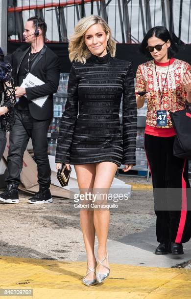 Actress/fashion designer Kristin Cavallari is seen leaving the Naeem Khan fashion show during New York Fashion Week The Shows at Gallery 1 Skylight...