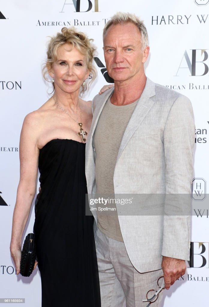 Actress/film producer Trudie Styler and singer/songwriter Sting attend the 2018 American Ballet Theatre Spring Gala at The Metropolitan Opera House on May 21, 2018 in New York City.