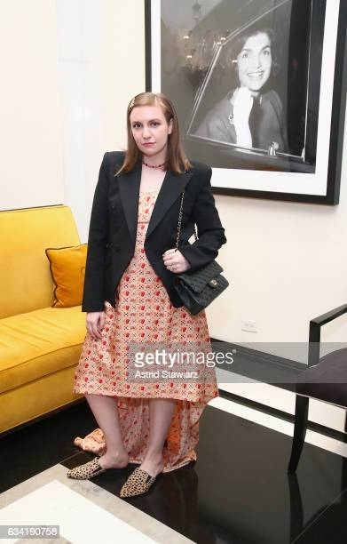 Actress/filmmaker Lena Dunham attends the InStyle March Issue Party By Laura Brown at The Carlisle Hotel on February 7 2017 in New York City