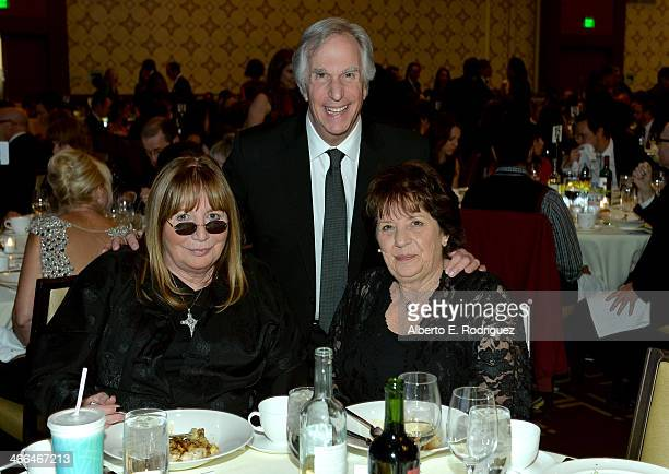 Actress/filmmaker Penny Marshall Henry Winkler and guest attend the 2014 Writers Guild Awards LA Ceremony at JW Marriott at LA Live on February 1...