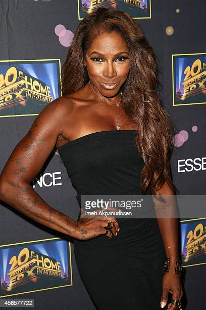 Actress/fitness coach AdrienneJoi Johnson attends the Essence 'A Toast To Primetime' event at Herringbone Mondrian LA on October 2 2014 in Beverly...