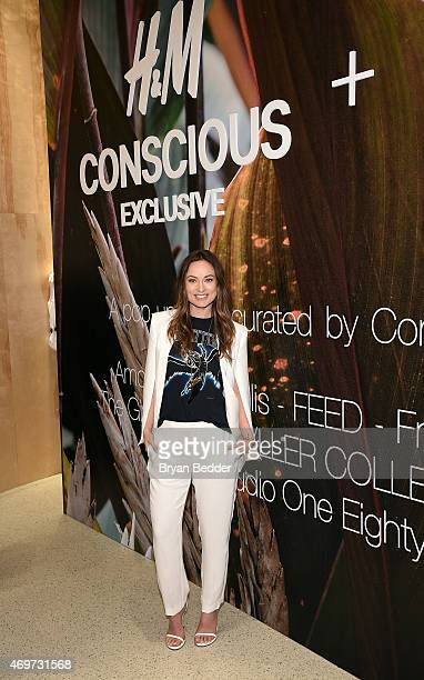 Actress/Founder of Conscious Commerce Olivia Wilde attends the HM Olivia Wilde and Conscious Commerce celebration of the opening of The Conscious...