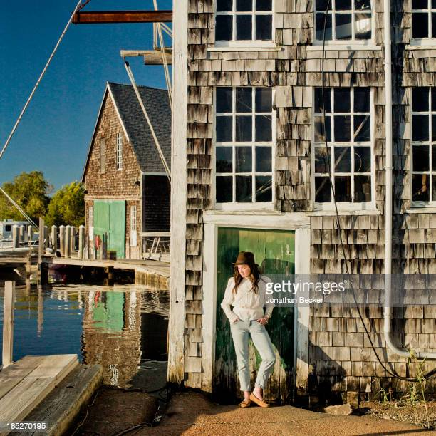 Actress/granddaughter of Robert F. Kennedy, Kathleen Kick Kennedy is photographed for Town & Country Magazine on September 22-23, 2012 at the marina...