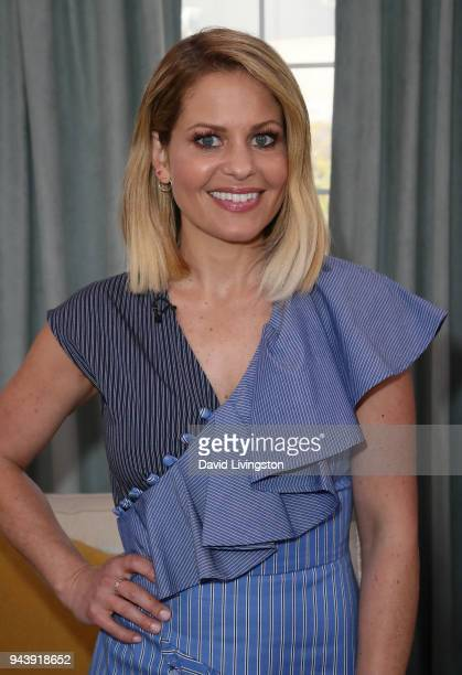 Actress/guest cohost Candace CameronBure poses at Hallmark's Home Family at Universal Studios Hollywood on April 9 2018 in Universal City California