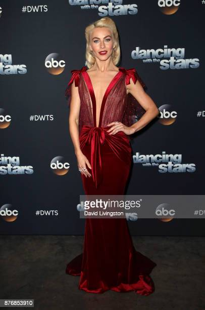 Actress/guest judge Julianne Hough poses at 'Dancing with the Stars' season 25 at CBS Televison City on November 20 2017 in Los Angeles California