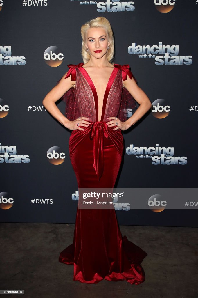 Actress/guest judge Julianne Hough poses at 'Dancing with the Stars' season 25 at CBS Televison City on November 20, 2017 in Los Angeles, California.