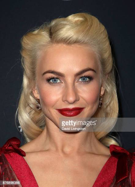 Actress/guest judge Julianne Hough poses at Dancing with the Stars season 25 at CBS Televison City on November 20 2017 in Los Angeles California