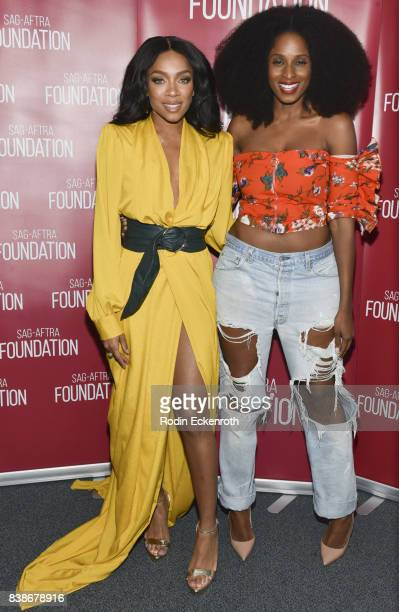Actress/hip hop artist Niatia 'Lil' Mama' Kirkland and actress Tiffany Black pose for portrait at SAGAFTRA Foundation Conversations with 'When Love...