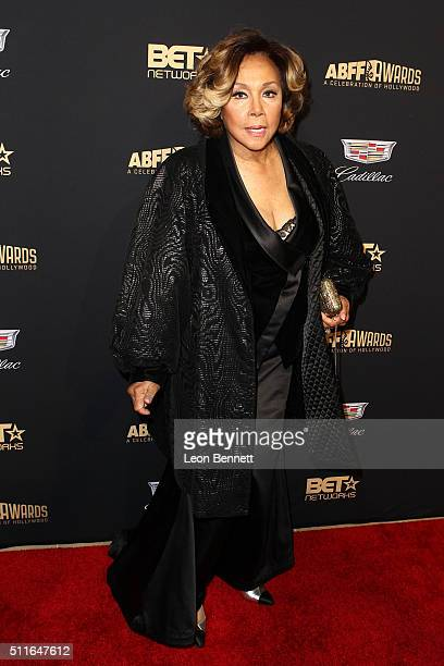Actress/Honoree Diahann Carroll arrived to the 2016 American Black Film Festival Awards Gala Arrivals at The Beverly Hilton Hotel on February 21 2016...