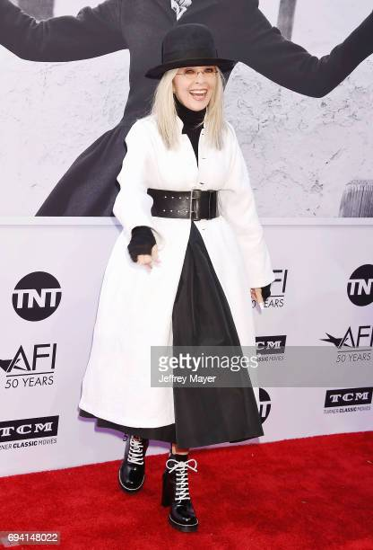 Actress/honoree Diane Keaton arrives at the AFI Life Achievement Award Gala Tribute To Diane Keaton at the Dolby Theater on June 8 2017 in Hollywood...