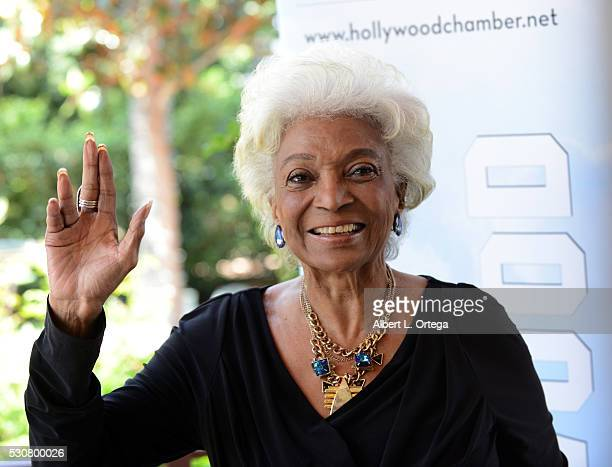 Actress/honoree Nichelle Nichols attends the 2016 Heroes Of Hollywood Awards Luncheon held at Taglyan Cultural Complex on May 11, 2016 in Hollywood,...