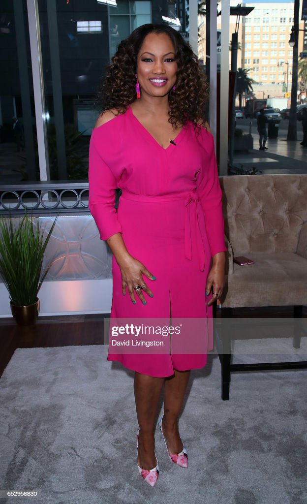 Actress/host Garcelle Beauvais poses at Hollywood Today Live at W Hollywood on March 13, 2017 in Hollywood, California.
