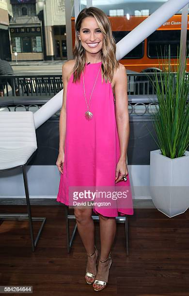 Actress/host Kristen Brockman poses at Hollywood Today Live at W Hollywood on July 28 2016 in Hollywood California
