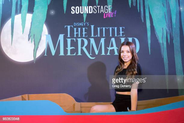 Actress/Influencer Kaylee Quinn attends the New Interactive Live Stage Show Of Disney's The Little Mermaid at the El Segundo Performing Arts Center...