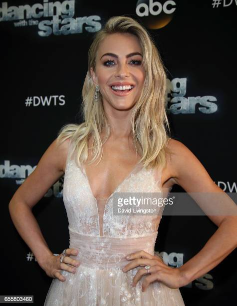 Actress/judge Julianne Hough attends Dancing with the Stars Season 24 premiere at CBS Televison City on March 20 2017 in Los Angeles California