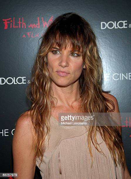ActressJuliette Lewis attends a screening of Filth and Wisdom hosted by The Cinema Society and Dolce and Gabbana at the IFC Center on October 13 2008...
