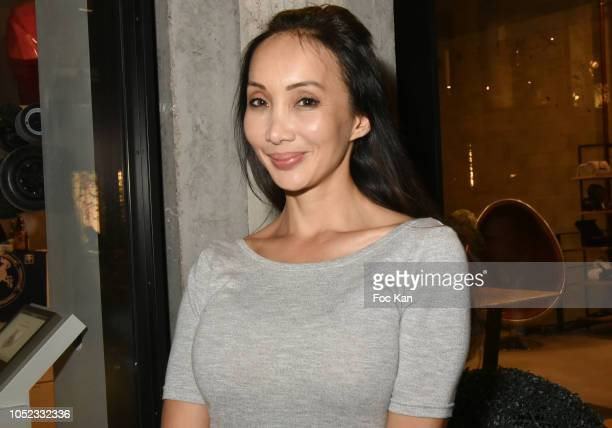 Actress/manga screenwriter /blogger Celine Tran attends the 'Champion Spirit' Rive Gauche Launch Party at Beaupassage 14 Bd Raspail on October 16...
