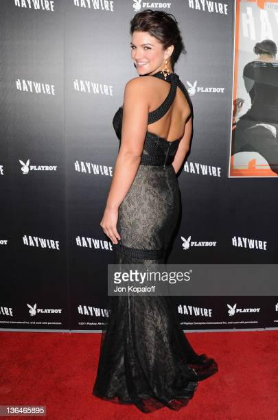 """Actress/mixed martial artist Gina Carano arrives at the Los Angeles Premiere """"Haywire"""" at Directors Guild Of America on January 5, 2012 in Los..."""