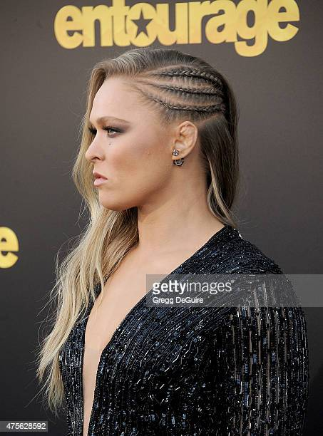 Actress/MMA fighter Ronda Rousey arrives at the Los Angeles premiere of Entourage at Regency Village Theatre on June 1 2015 in Westwood California