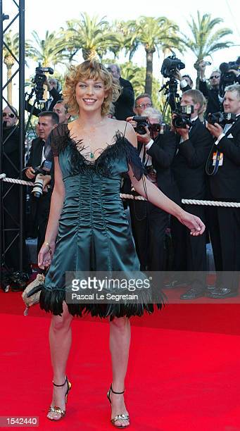 Actress/modek Milla Jovovich arrives for the opening ceremony at the 55th International Film Festival May 15, 2002 in Cannes, France. Twenty-two...