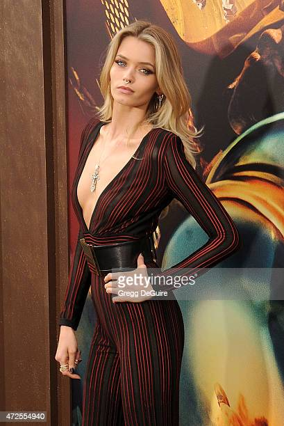 Actress/model Abbey Lee Kershaw arrives at the Los Angeles premiere of 'Mad Max Fury Road' at TCL Chinese Theatre IMAX on May 7 2015 in Hollywood...