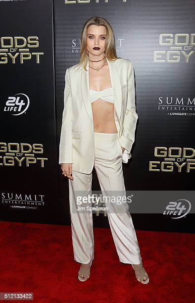 Actress/model Abbey Lee Kershaw attends the 'Gods Of Egypt' New York premiere at AMC Loews Lincoln Square 13 on February 24 2016 in New York City