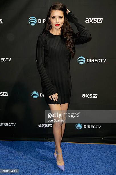 Actress/model Adriana Lima attends DirecTV Super Saturday Night Cohosted by Mark Cuban's AXS TV at Pier 70 on February 6 2016 in San Francisco...
