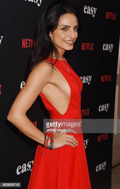 Actress/model Aislinn Derbez attends the premiere of Netflix's 'Easy' at The London Hotel on September 14 2016 in West Hollywood California