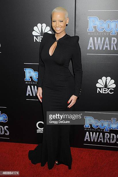 Actress/model Amber Rose arrives at The PEOPLE Magazine Awards at The Beverly Hilton Hotel on December 18 2014 in Beverly Hills California
