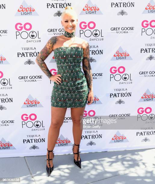 Actress/model Amber Rose hosts the Go Pool Dayclub at Flamingo Las Vegas on May 26 2018 in Las Vegas Nevada
