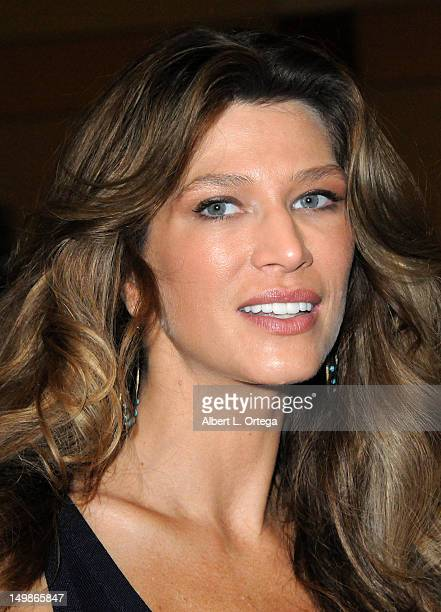 Actress/model Amber Smith participates in The Hollywood Show held at Burbank Airport Marriott Hotel Convention Center on August 5 2012 in Burbank...