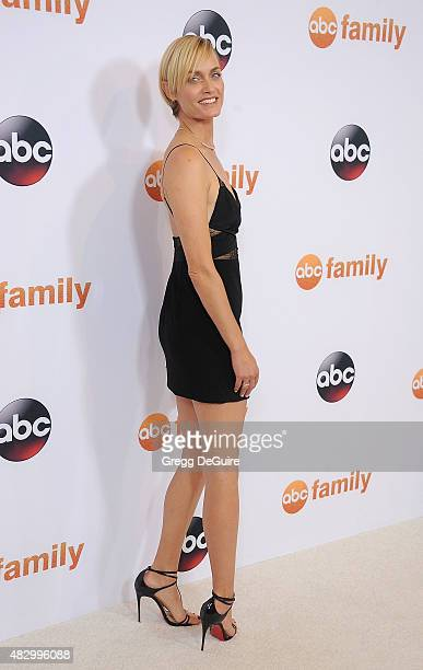 Actress/model Amber Valletta arrives at the Disney ABC Television Group's 2015 TCA Summer Press Tour on August 4 2015 in Beverly Hills California