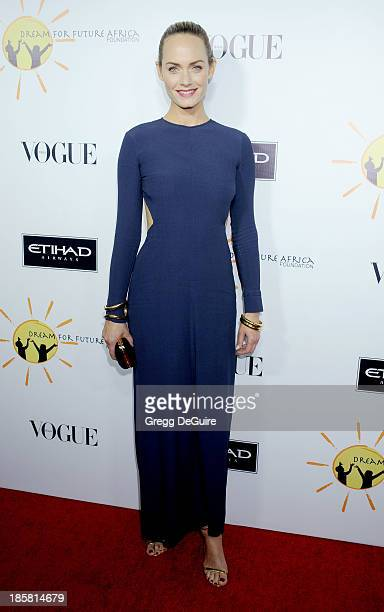 Actress/model Amber Valletta arrives at the Dream For Future Africa Foundation Gala at Spago on October 24 2013 in Beverly Hills California
