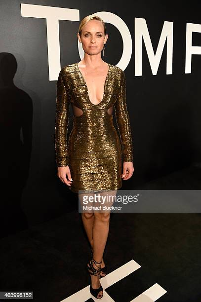 Actress/model Amber Valletta wearing TOM FORD attends the TOM FORD Autumn/Winter 2015 Womenswear Collection Presentation at Milk Studios in Los...
