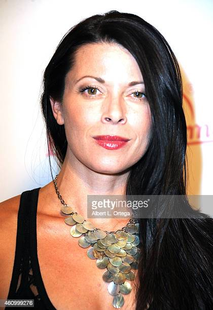 Actress/model Angel Boris arrives for the Benchwarmer Back To School Red Carpet Party in conjunction with CEO Brian Wallos' Birthday celebration held...