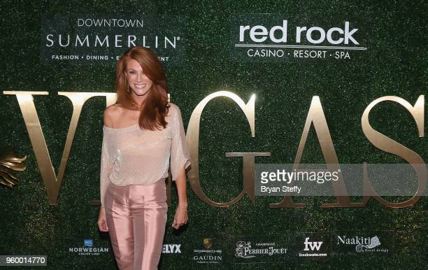 Actress/model Angie Everhart attends VEGAS Magazine's 15th anniversary party at the Red Rock Casino Resort and Spa on May 18 2018 in Las Vegas Nevada