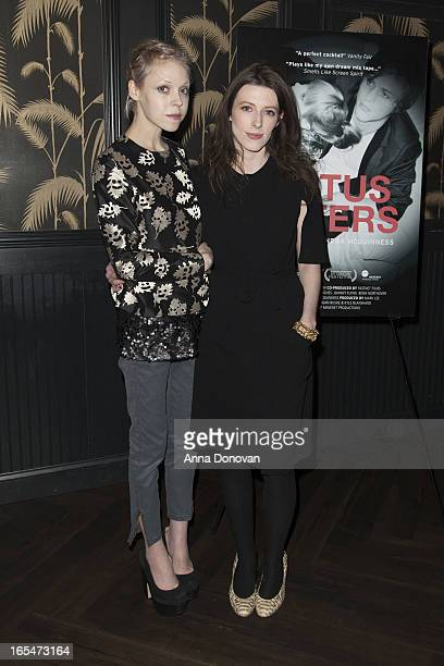 Actress/model Antonia CampbellHughes and Director Alexandra McGuinness attend Lotus Eaters New York Premiere at No 8 on April 3 2013 in New York City