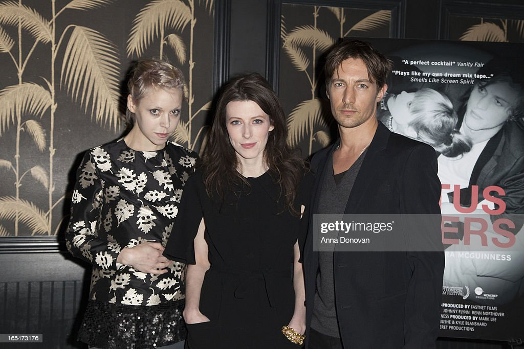 Actress/model Antonia Campbell-Hughes, Director Alexandra McGuinness and actor Benn Northover attend 'Lotus Eaters' New York Premiere at No. 8 on April 3, 2013 in New York City.