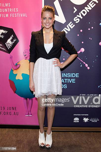 Actress/Model April Rose Pengilly at the premiere of 'LBF' during the Sydney Film Festival on June 10 2011 in Sydney Australia