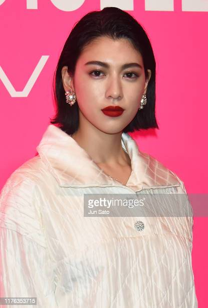 Actress/model Ayaka Miyoshi attends the Chanel Mademoiselle Prive Tokyo on October 17 2019 in Tokyo Japan