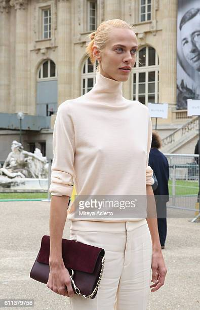 Actress/model Aymeline Valade attends the Chloe show as part of the Paris Fashion Week Womenswear Spring/Summer 2017 on September 29 2016 in Paris...