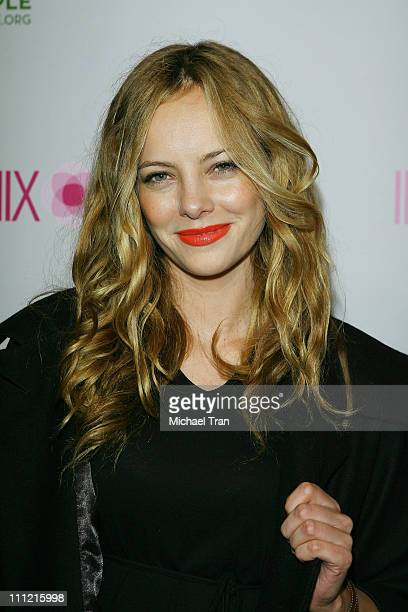 Actress/model Bijou Phillips arrives at the Intermix Boutique store opening at the Intermix Boutique store on September 25 2007 in West Hollywood...