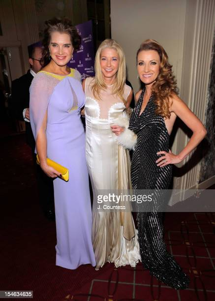 Actress/model Brooke Shields author Candace Bushnell and actress Jane Seymour attend the 2012 Alzheimer Association Rita Hayworth Gala at The Waldorf...