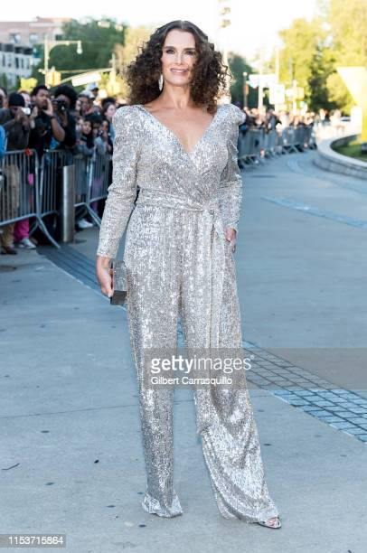 Actress/model Brooke Shields is seen arriving to the 2019 CFDA Fashion Awards on June 3 2019 in the Brooklyn borough of New York City