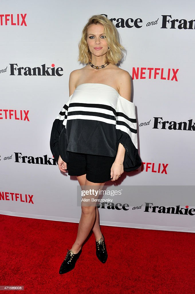 Actress/model Brooklyn Decker attends the premiere of Netflix's 'Grace and Frankie' at Regal Cinemas L.A. Live on April 29, 2015 in Los Angeles, California.