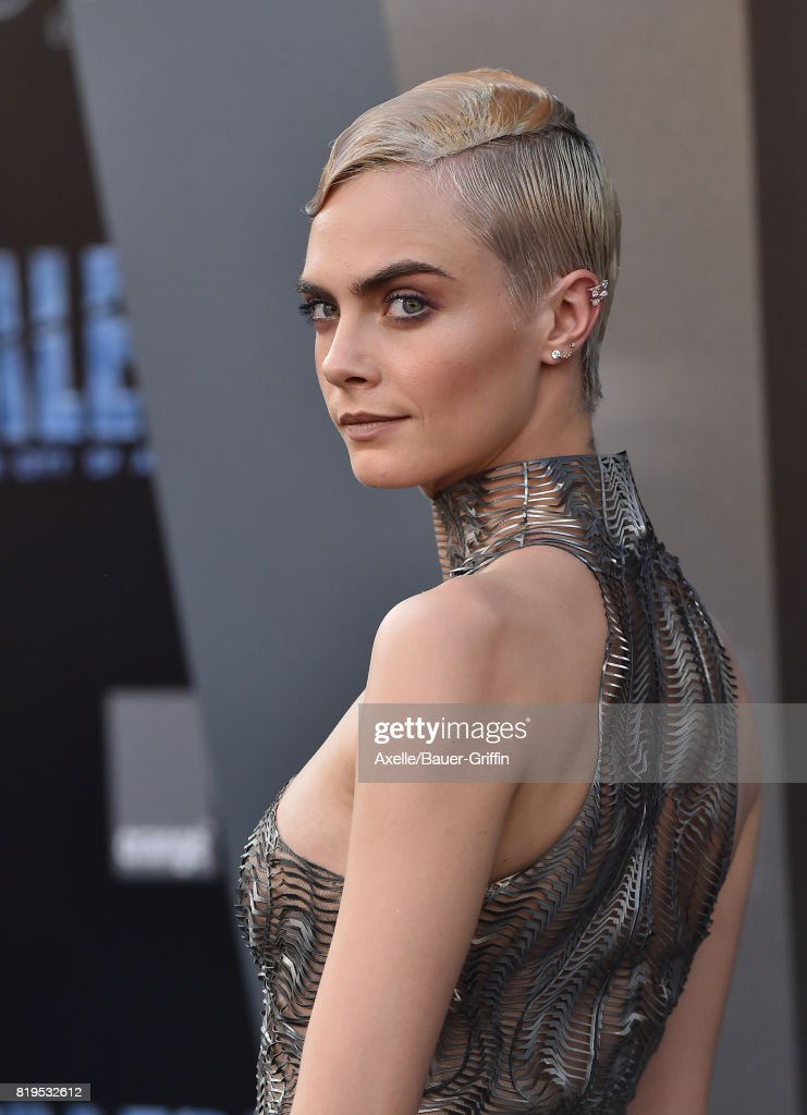 Actress/model Cara Delevingne arrives at the Los Angeles premiere of 'Valerian and the City of a Thousand Planets' at TCL Chinese Theatre on July 17, 2017 in Hollywood, California.