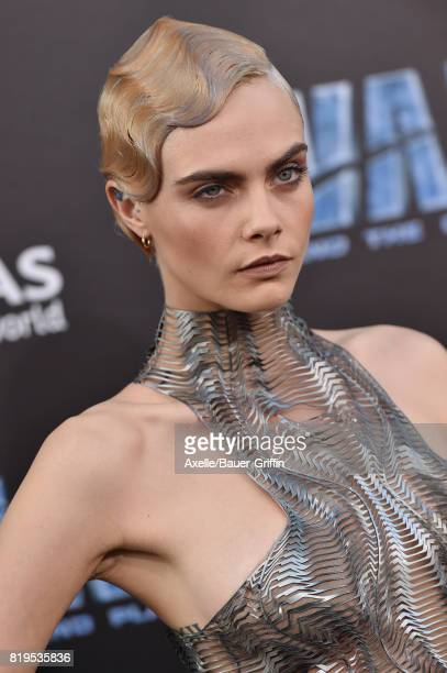 Actress/model Cara Delevingne arrives at the Los Angeles premiere of 'Valerian and the City of a Thousand Planets' at TCL Chinese Theatre on July 17...