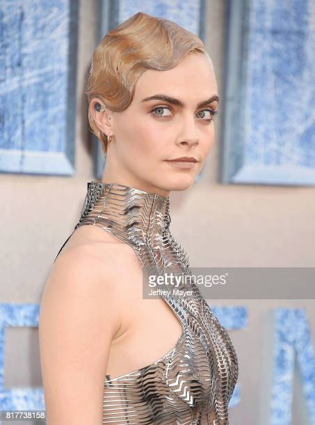 Actress/model Cara Delevingne arrives at the Premiere Of EuropaCorp And STX Entertainment's 'Valerian And The City Of A Thousand Planets' at TCL...