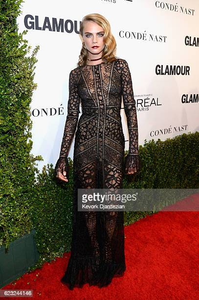 Actress/model Cara Delevingne attends Glamour Women Of The Year 2016 at NeueHouse Hollywood on November 14 2016 in Los Angeles California